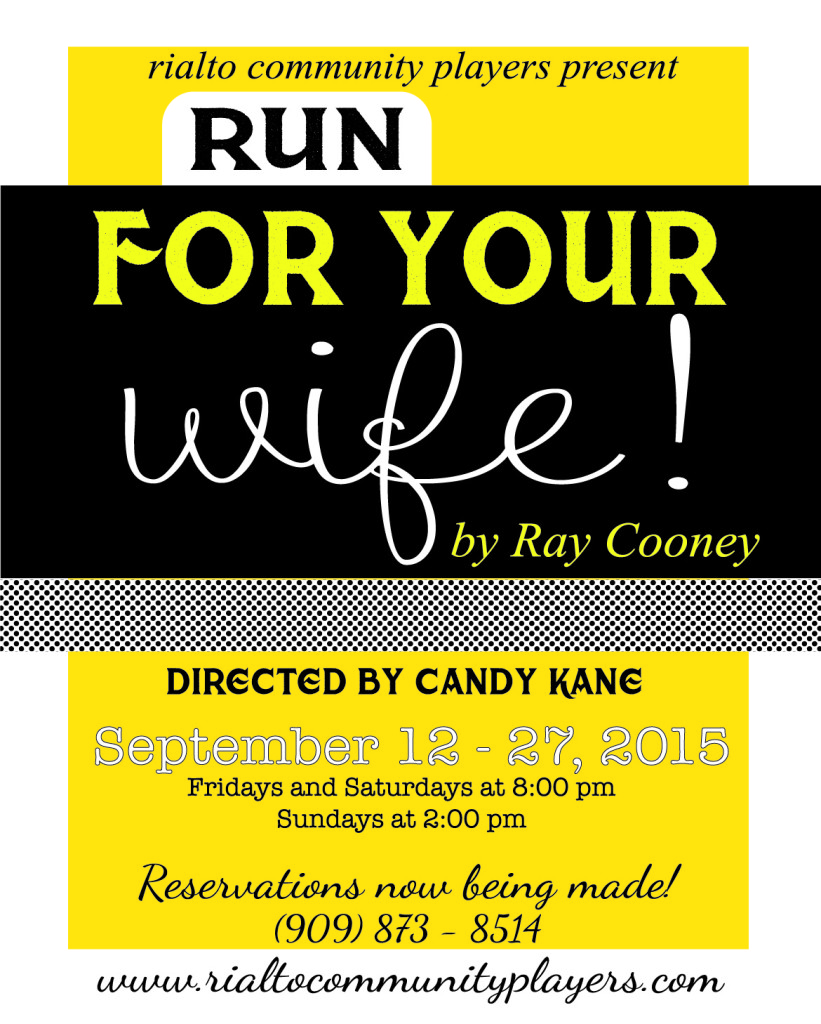 Run For Your Wife - poster-01